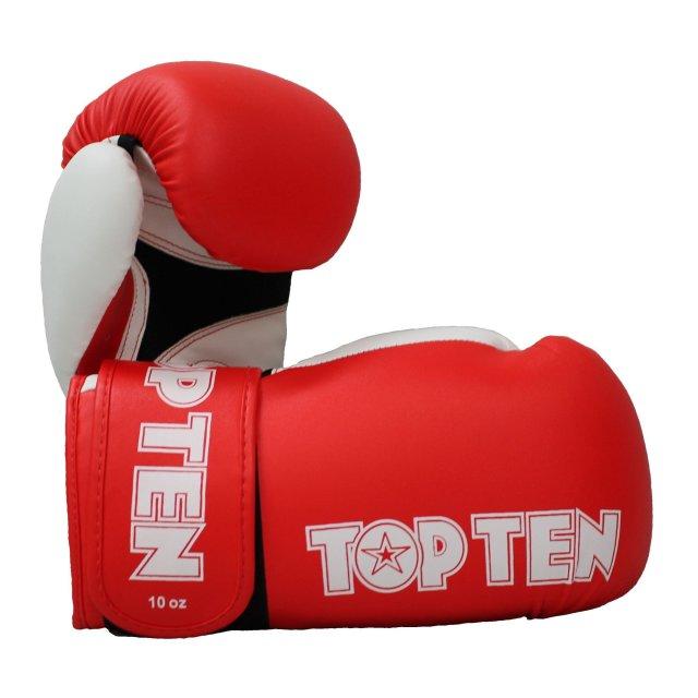 Boxhandschuhe XLP versch. Farben Rot/Weiß 10oz