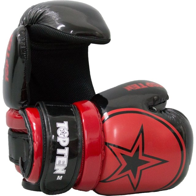 Pointfighter Glossy Block Star Schwarz/Rot M