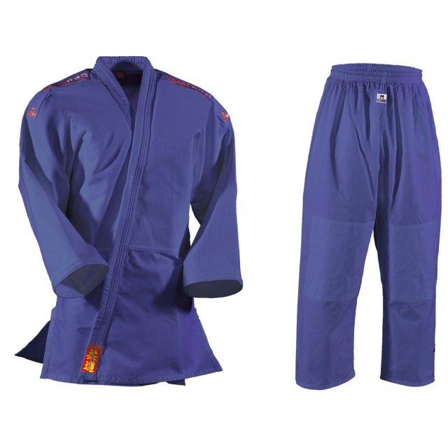 DANRHO Judoanzug Yamanashi mit Schulterstreifen in blau oder weiß