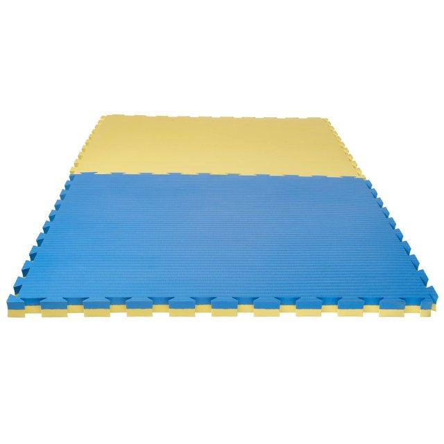 Puzzlematte Pro Tatami 4 cm Wendematte blau/gelb