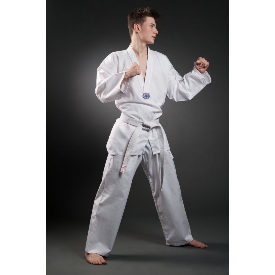 orkansports taekwondo anzug dobok tkd mit ohne r ckendruck ko. Black Bedroom Furniture Sets. Home Design Ideas