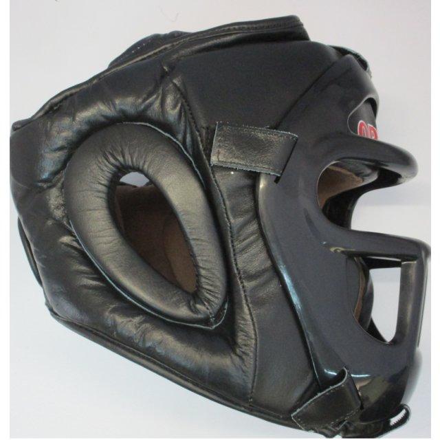 Orkan Kopfschutz mit Gitter Leder M