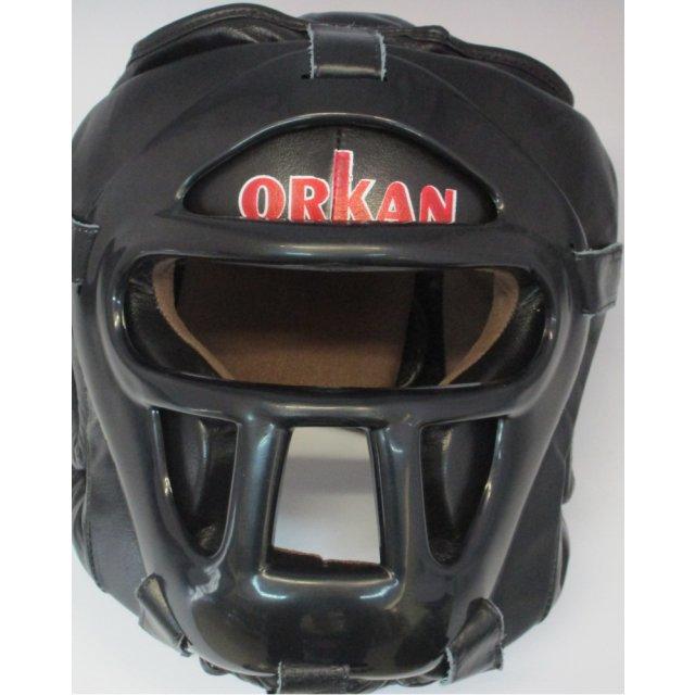 Orkan Kopfschutz mit Gitter Leder XL