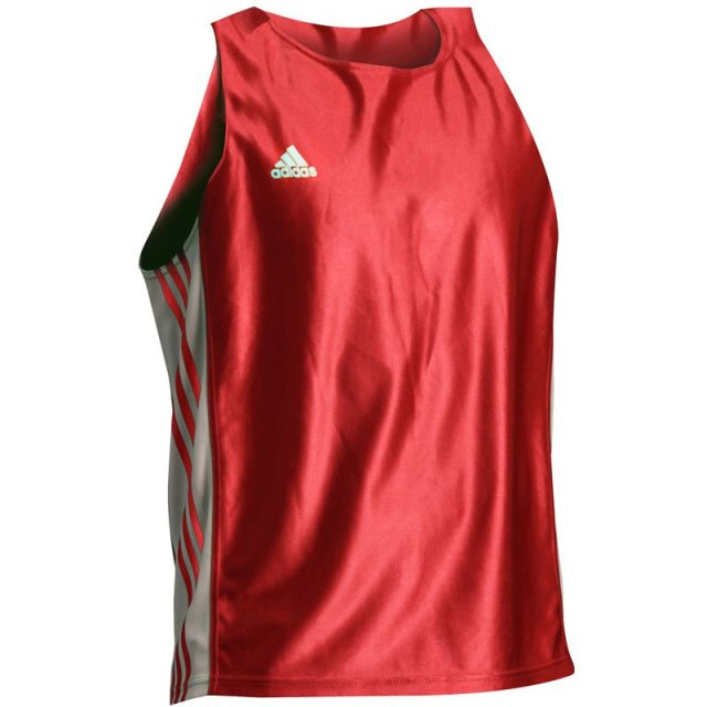 ADIDAS Amateur Boxing Tank Top rot/weiß L
