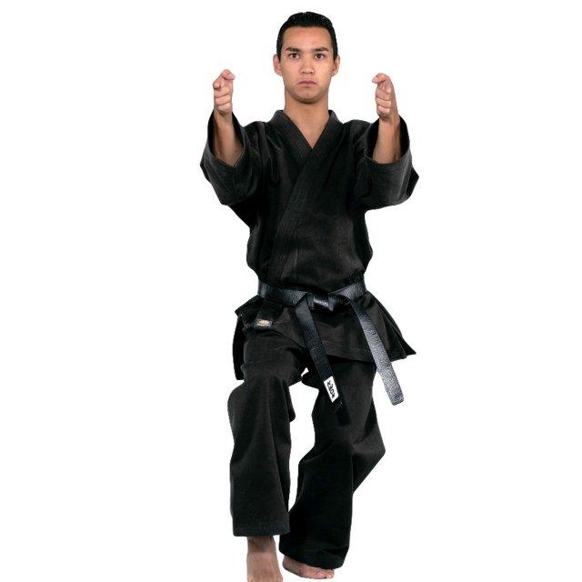 KWON Karate Anzug Traditional schwarz, 12oz 180