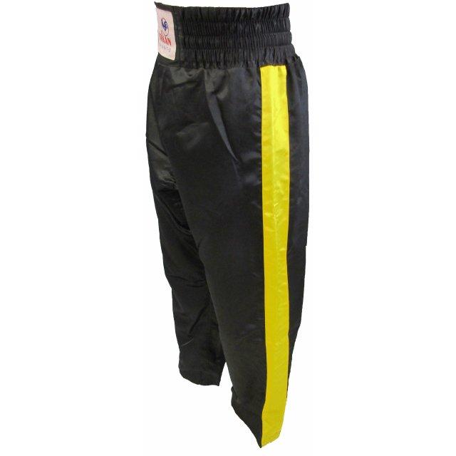 Orkan Satinhose mit Streifen schwarz/gelb 160