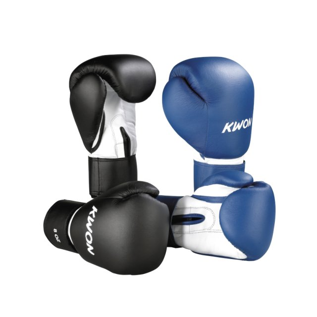 Kwon Fitness-Boxhandschuh Schwarz 12oz