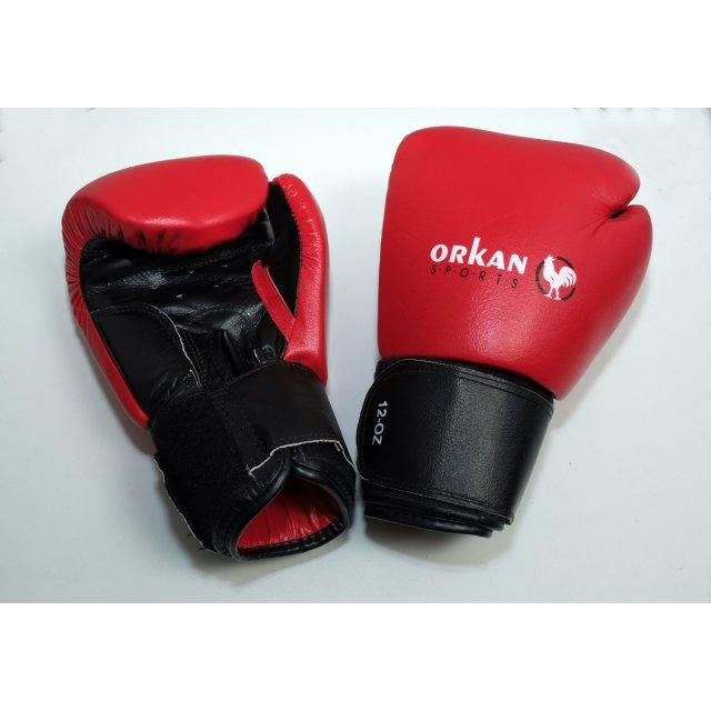 Orkan Boxhandschuhe rot Leder 14oz