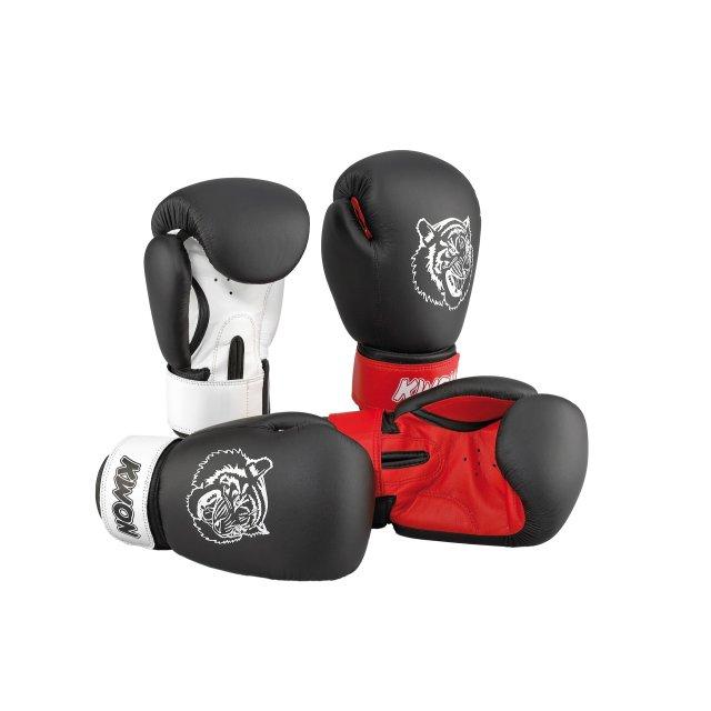 KWON Junior Tiger Boxhandschuh 10oz schwarz/weiß 10oz