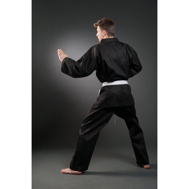 Karate Anzug Orkan schwarz 120