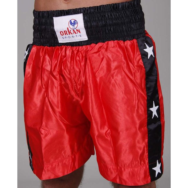 Orkan Thai-Box Shorts rot/schwarz L