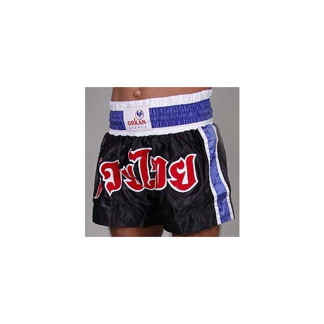 Orkan Thai-Box Shorts schwarz/blau XL