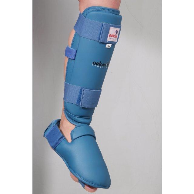 Orkan Schienbein- und Fußschutz Karate M Blau