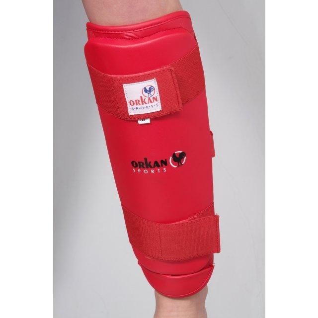 Orkan Schienbein- und Fußschutz Karate L Rot