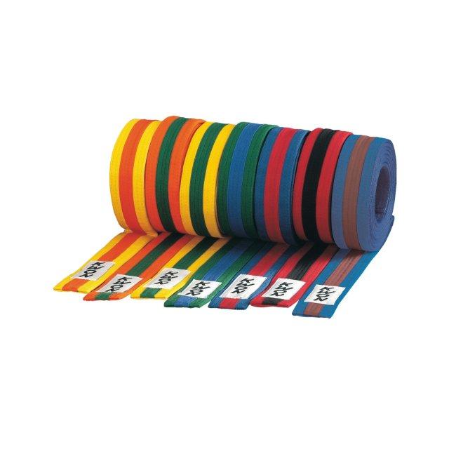 KWON Budo-Gürtel mehrfarbig weiß/gelb/weiß 300