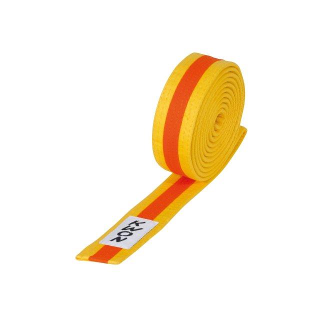 KWON Budo-Gürtel mehrfarbig orange/grün/orange 280