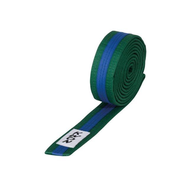 KWON Budo-Gürtel mehrfarbig gelb/grün/gelb 320