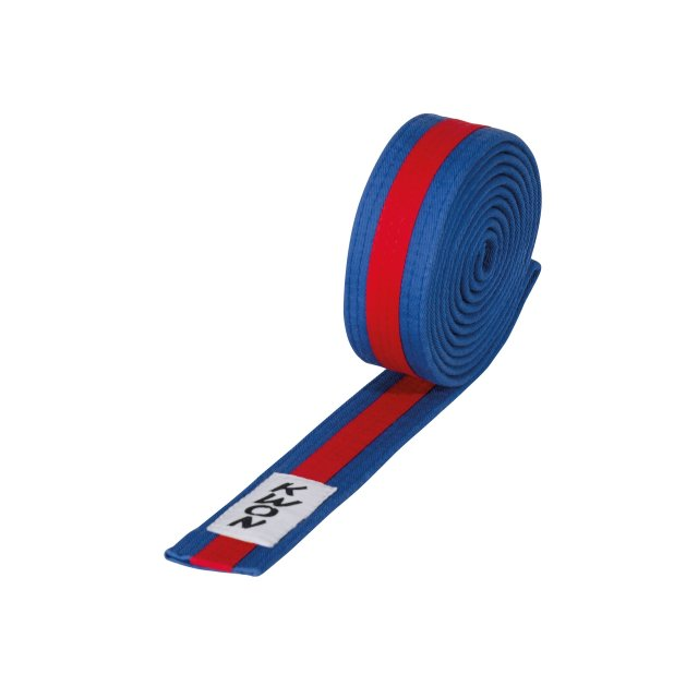 KWON Budo-Gürtel mehrfarbig grün/blau/grün 260