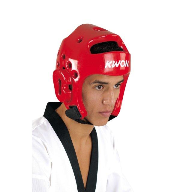 Kopfschutz PU Rot L