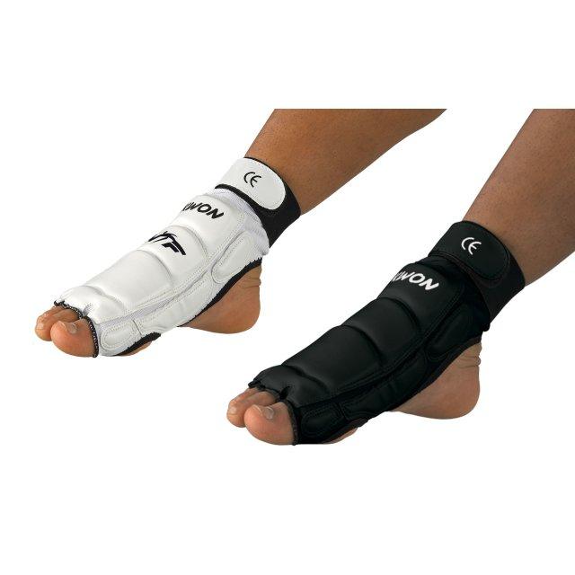 Taekwondo Fußschützer CE weiß oder schwarz